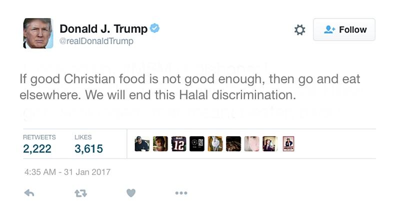 Trump To Ban Halal Food in the USA – The Turunn Tribune