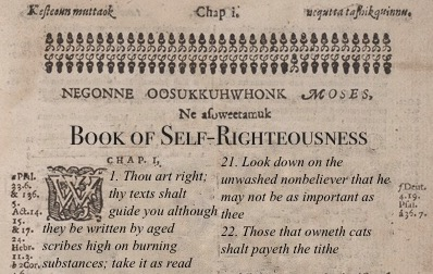 Book Of Self Righteousness